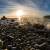 06/01/2014 – 16:01 Poco prima del tramonto allo scoglio Asseu nel Golfo di Riva Trigoso, Sestri Levante, Liguria, Genoa Italy