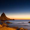 29/11/2013 – 17:27 Lo scoglio dell'Asseu al crepuscolo in compagnia di Venere. Golfo di Riva Trigoso, Sestri Levante, Genoa Italy