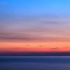 28/03/2014 – 19:31 Golfo di Riva Trigoso al crepuscolo. Sestri Levante, Riviera Ligure di Levante, Genoa Italy (Lunga esposizione - 47 min. dopo il tramonto)
