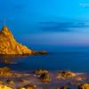 28/03/2014 – 19:22 Lo scoglio dell'Asseu al crepuscolo, Riva Trigoso. Sestri Levante, Riviera Ligure di Levante, Genoa Italy (Lunga esposizione - 38 min. dopo il tramonto)