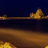28/03/2014 – 19:33 Lo scoglio dell'Asseu, Riva Trigoso. Sestri Levante, Riviera Ligure di Levante, Genoa Italy (Lunga esposizione - 49 min. dopo il tramonto)