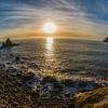 06/01/2014 – 16:04 Poco prima del tramonto allo scoglio Asseu nel Golfo di Riva Trigoso, Sestri Levante, Liguria, Genoa Italy