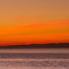 29/11/2013 – 17:10 Tramonto sulle Alpi Marittime con alla destra Punta Manara, visto dallo scoglio Asseu, Golfo di Riva Trigoso, Sestri Levante, Genoa Italy
