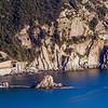 28/03/2014 – 17:33 Lo scoglio dell'Asseu e le Lastre di Riva Trigoso viste dalle alture di San Bartolomeo della Ginestra. Sestri Levante, Riviera Ligure di Levante, Genoa Italy