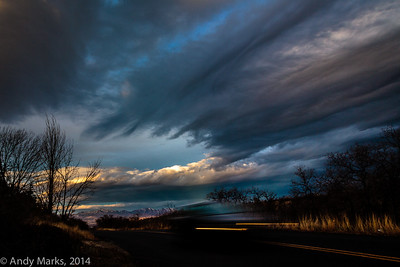 Weather change, and a passing car