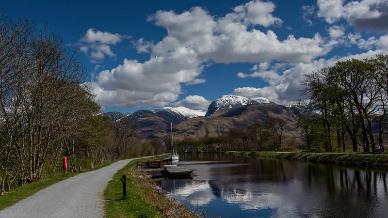 Caledonian Canal at Corpach - Ben Nevis - Highlands, Scotland (April 2018)