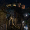 Edinburgh Castle from the Vennel Steps (February 2020)