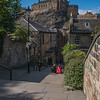 Edinburgh Castle from the Vennel Steps (August 2019)