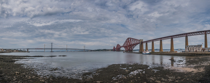 Forth Rail & Road Bridges - South Queensferry - West Lothian - Scotland (August 2019)