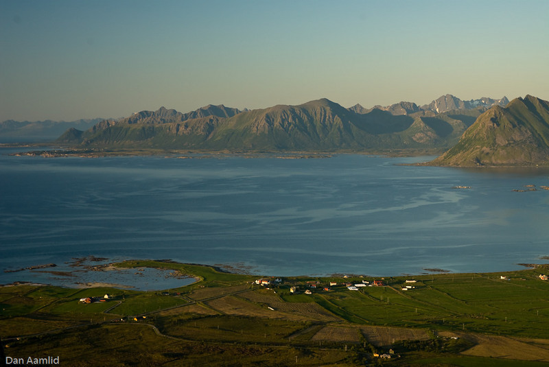 Saupstad (Gimsøy), Lofoten (View from Mt. Hoven)
