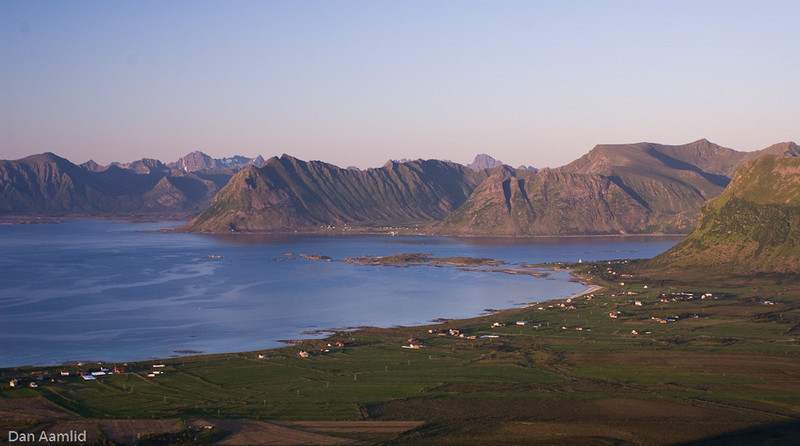 Gimsøysand (Gimsøy), Lofoten, Norway (View from Mt. Hoven)