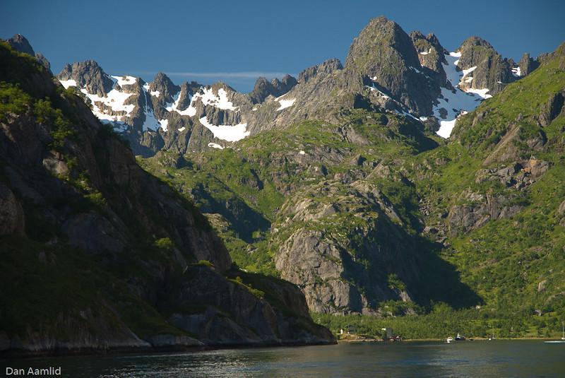 Trollfjorden, Trollfjordtindan, Lofoten, Norway
