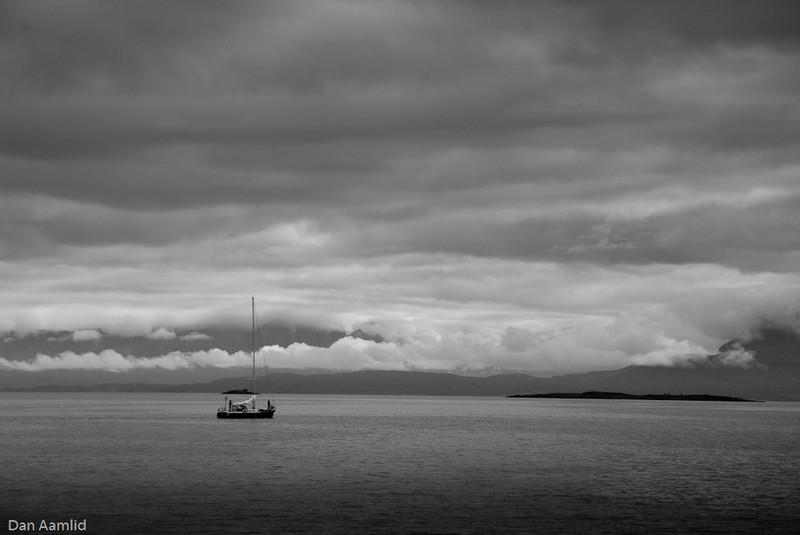 Sail boat, Harstad, Norway