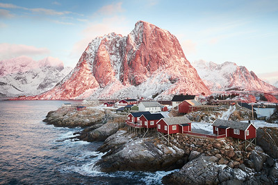 Reine in the winter