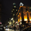 St Martin's Lane on a damp February evening