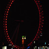 The London Eye illuminated red for Valentine's Day