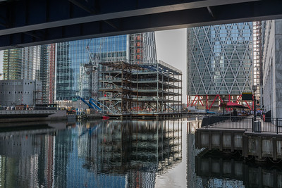Construction in Canary Wharf