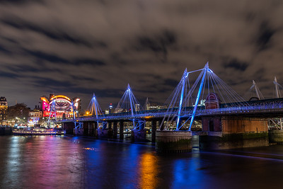 Golden Jubilee Bridges & Charing Cross by Night