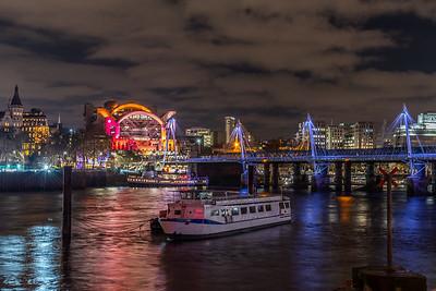 Golden Jubilee Bridges & Charing Cross by Night