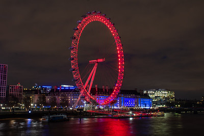 CocaCola London Eye by Night