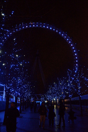 Christmas Lights at the London Eye.