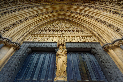 The side door of Westminster Abbey.