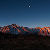 Sunrise pano Mt. Whitney and Alabama Hills