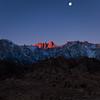 Whitney sunrise/ moonset