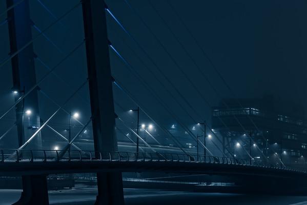 Crusell bridge by night