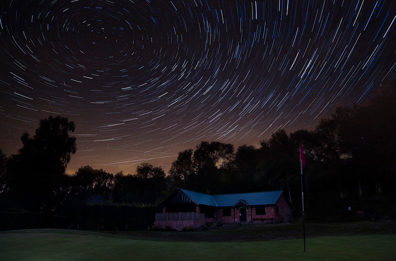Startrails over New Club House