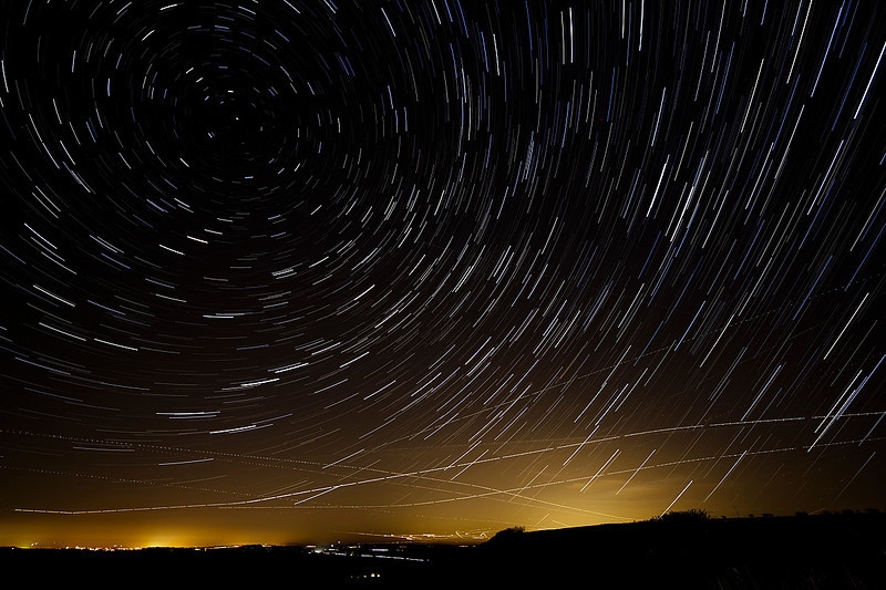 Startrails over Charity Down