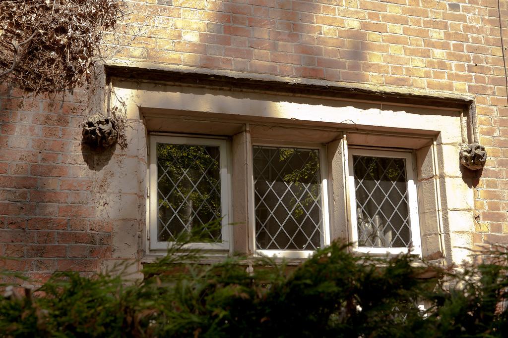 Fine detail above Victorian window.