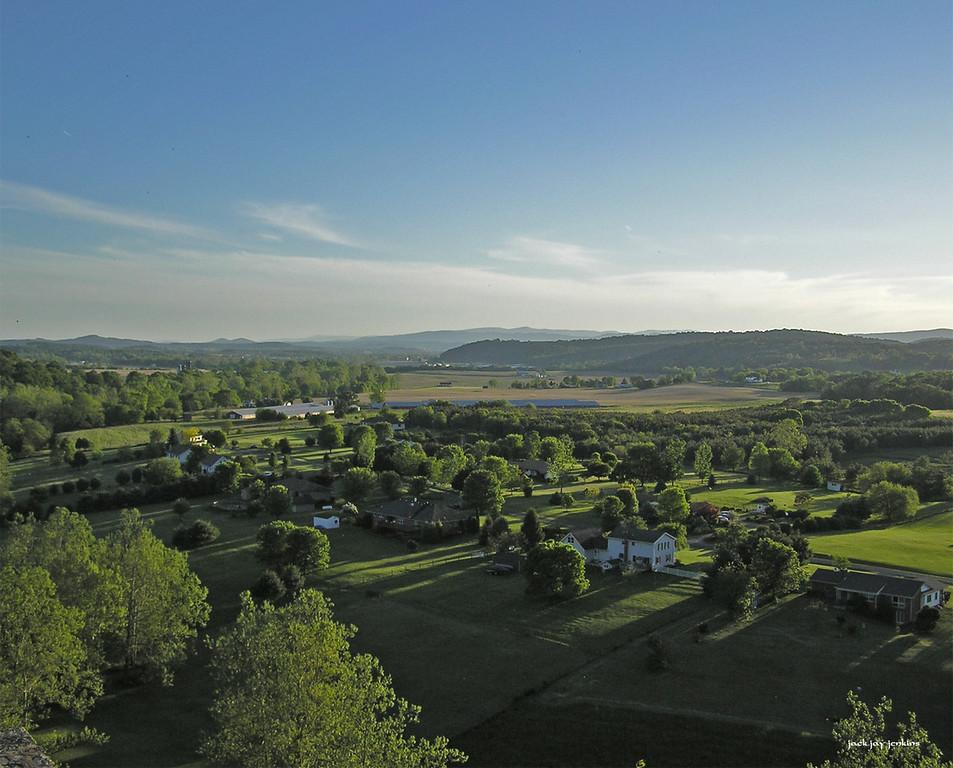 Looking southwest toward Timberville, Virginia.