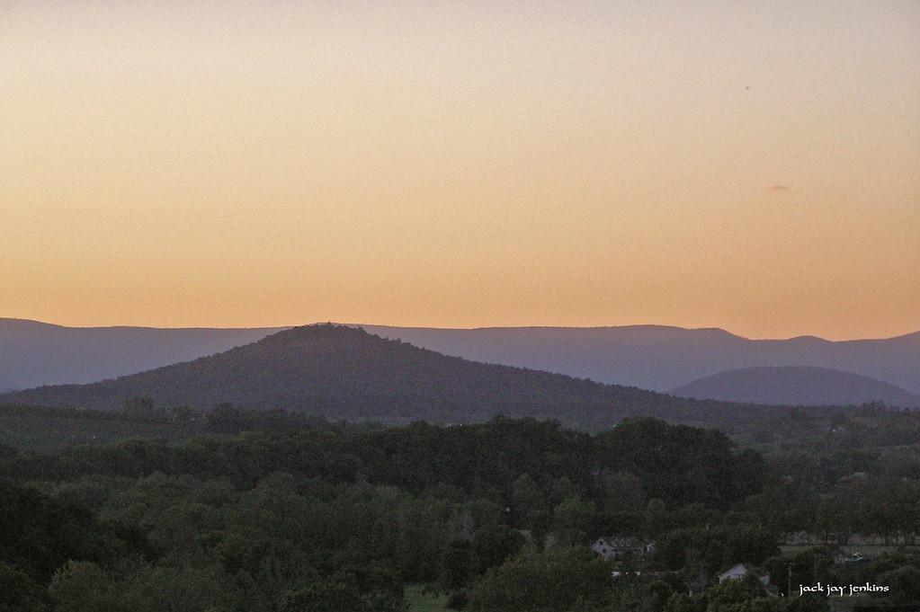 Dusk - looking north west toward Forestville, Virginia.