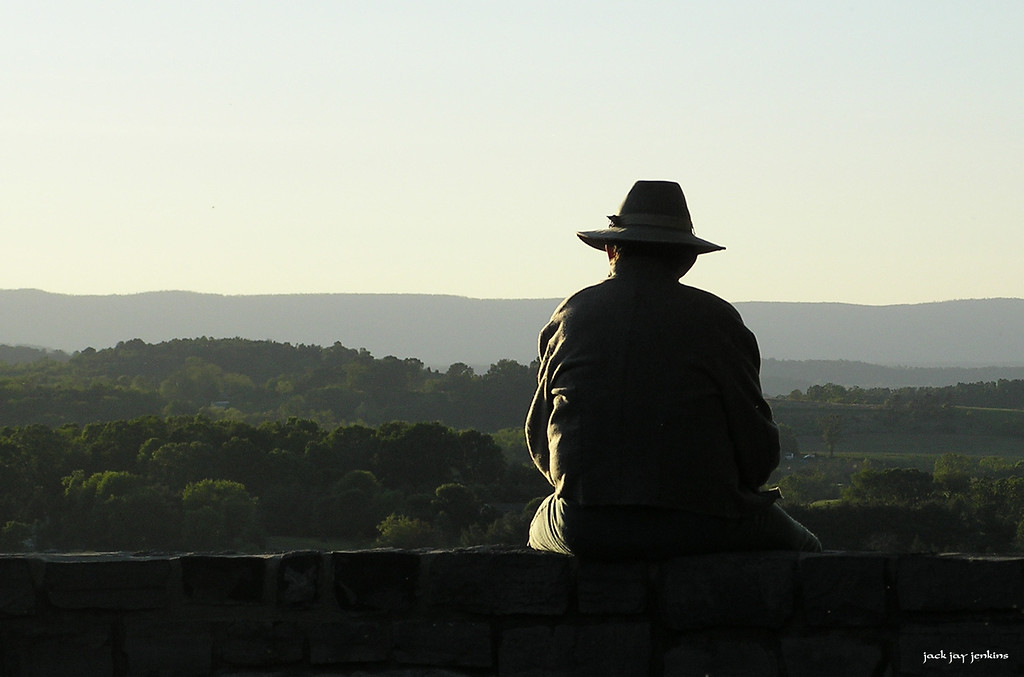 A peaceful moment for a reenactor.