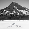 149  G Mt  Hood Above Fog Sharp BW