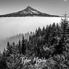 183  G Mt  Hood Above Fog Sharp BW