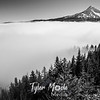 198  G Mt  Hood Above Fog BW
