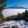 208  G Lost Lake Butte and Mt  Hood Above Fog
