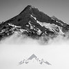 179  G Mt  Hood Above Fog Sharp BW