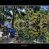 A Louisiana local at his favorite fishing hole near the town of Toomey off of Lost Lake.