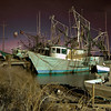 Shrimp boats docked and waiting for the next run.