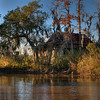 A rustic, old farm house on the Choupique Bayou in Southwest Louisiana.