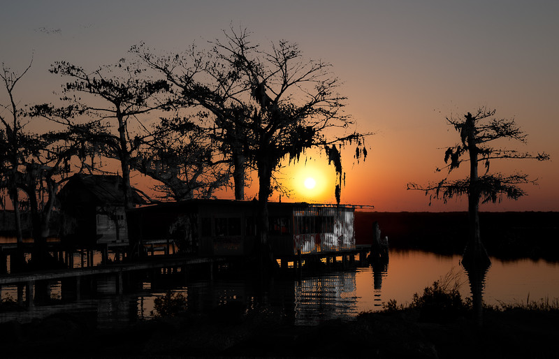 Sunset on the lake -  Lake Arthur,  LA