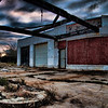 An old, worn out filling station in Orange, Texas