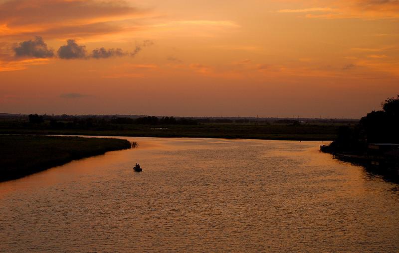 Sunset on the Louisiana waterways