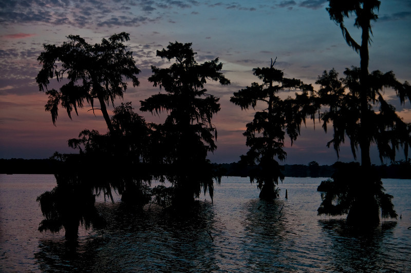 Sunset on Lake Martin in Louisiana