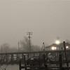 Foggy morning in Hackberry, Louisiana
