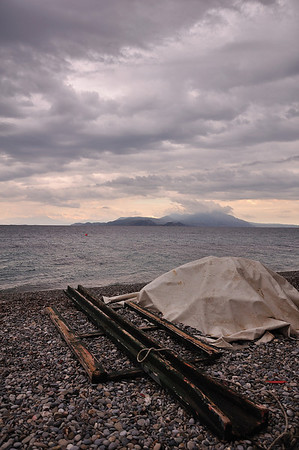 Diminio, Korinthos (Peloponnese) - Sea view before the storm<br />  Διμηνιό Κορινθίας - Άποψη της θάλλασας πριν την καταιγίδα