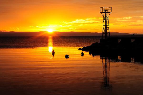 Alikes (Thessaly, near Volos) - Sunrise by the sea<br />  Αλυκές (Βόλος) - Ανατολή ηλίου δίπλα στη θάλασσα